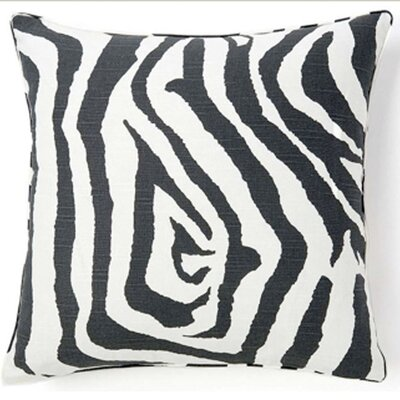 Jiti African Zebra Square Cotton Pillow