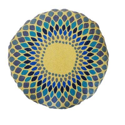 Jiti Round Iris Embroidered Cotton Pillow