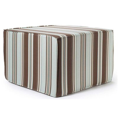 Jiti Thick Stripes Outdoor Ottoman in Spa