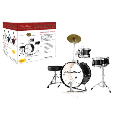 Ashley Entertainment Corporation Spectrum AIL 662BK Midnight Black Three Piece Junior Drum Kit
