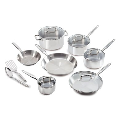 Ultimate Stainless Steel 12-Piece Cookware Set