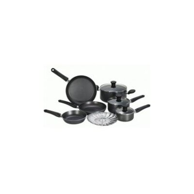 T-fal Initiatives Aluminum 10-Piece Cookware Set