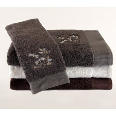 Pure Fiber Dragonfly Embroidered 3 Piece Towel Set