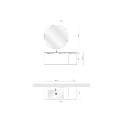 "Acquaviva Essenze 4 53.15"" Bathroom Vanity Set"