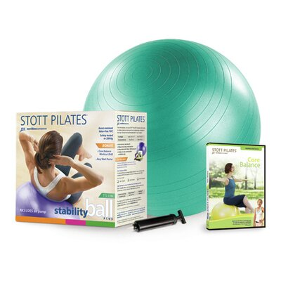 "STOTT PILATES 25.5"" Stability Ball Power Pack"