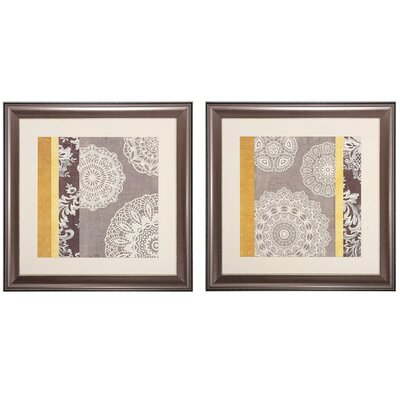 Contemporary 2 Piece Framed Graphic Art Set