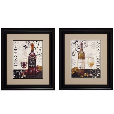 Propac Images Wine Swirl I / II Wall Art (Set of 2)