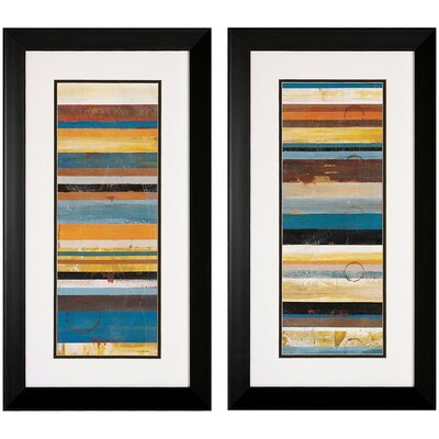 Stripes Panel I / II Framed Art (Set of 2)