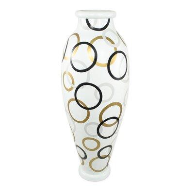 PoliVaz Modern Circles Round Floor Vase