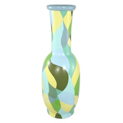 Medium Patchwork Round Decorative Vase