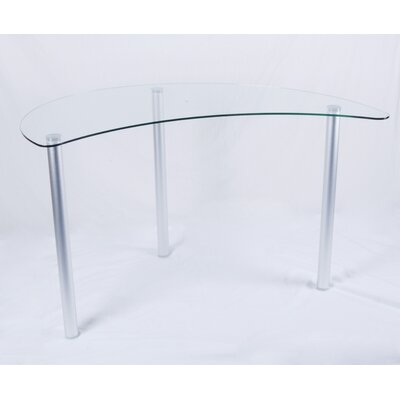 Tier One Designs Corner Computer Desk with Glass Top
