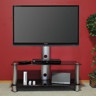 "Tier One Designs 60"" Inch and Below Black Glass TV Mount"