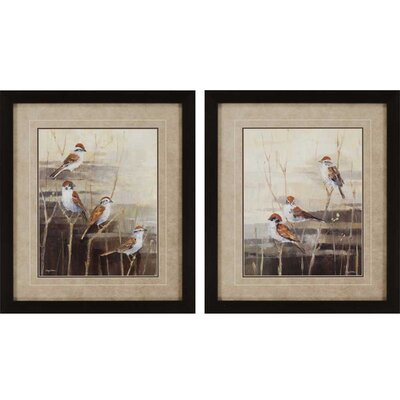 Evening Sanctuary by Tillman 2 Piece Framed Graphic Art Set