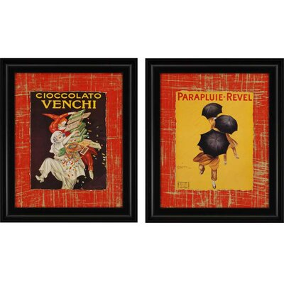 Nouvelles by Cappiello 2 Piece Framed Graphic Art Set