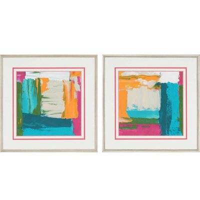 Neon City I by Goldberge 2 Piece Framed Painting Print Set