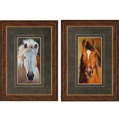 Gal / Searcher by Davies 2 Piece Framed Graphic Art Set