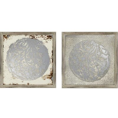 Vine Motif Mirrors 2 Piece Framed Graphic Art Set