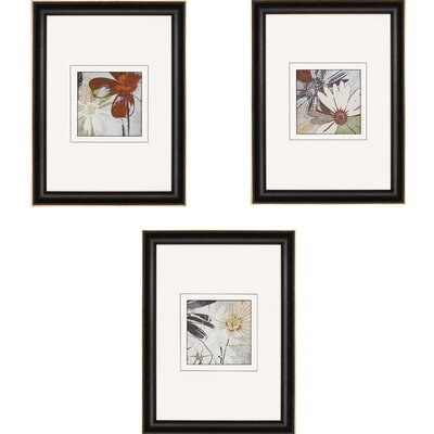 Bouquet d'Amour by Lacie 3 Piece Framed Graphic Art Set