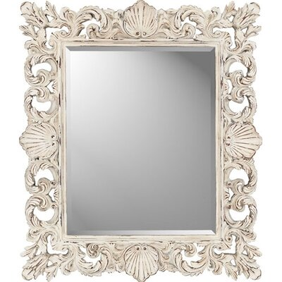 Rectangle Cream Shells Mirror