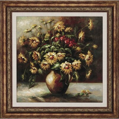 Paragon Vase of Sunflowers Framed Print