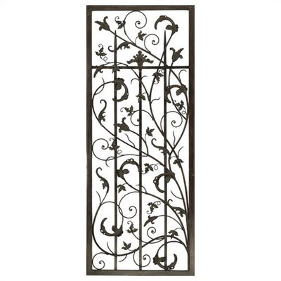 Rusty Vine Trellis II Metal Art