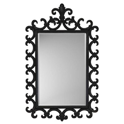 Aged Black French Traditional Wall Mirror