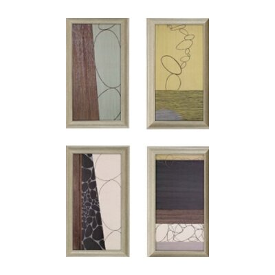 "Paragon Third Journey by Hartnett Contemporary Art - 28"" x 16"" - 1494 (Set of 4)"