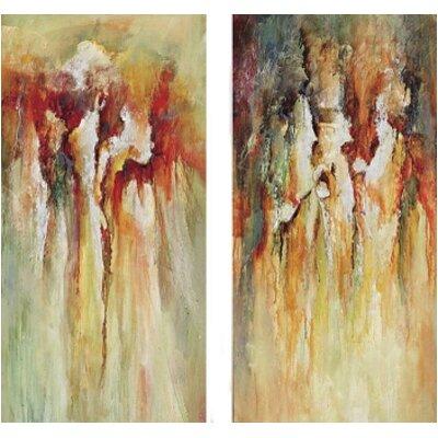Paragon Contemporary Rain 2 Piece Original Painting on Canvas