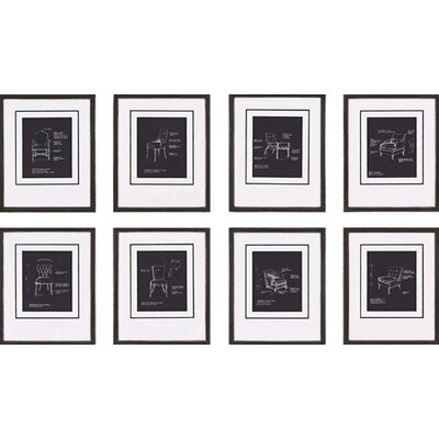Paragon Chairs by Olson 8 Piece Framed Graphic Art Set