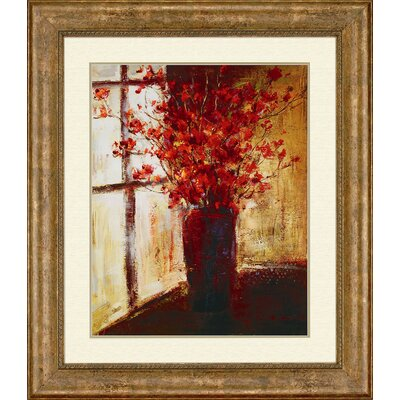 Vase of Red Flowers by Stewart Florals Art - 44