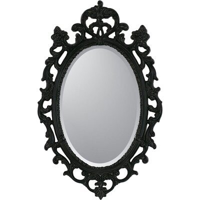 Black Ornate Traditional Wall Mirror
