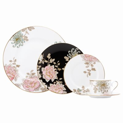 Painted Camellia 5 Piece Place Setting