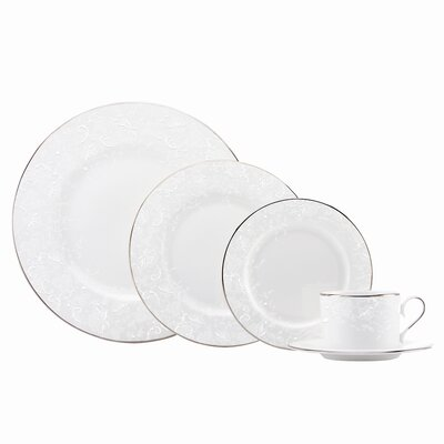 Porcelain Lace 5 Piece Place Setting