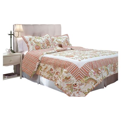 Textiles Plus Inc. French Bouquet Quilt Set