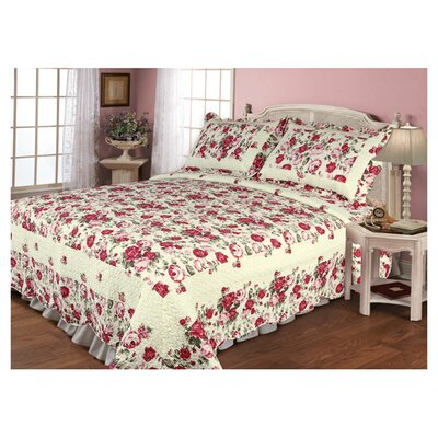 Textiles Plus Inc. Rose Garden Quilt Set