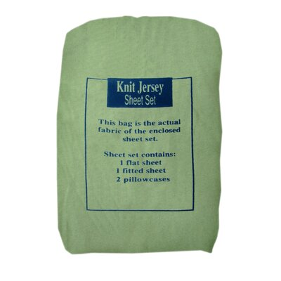 Textiles Plus Inc. Knit Jersey Sheet Set