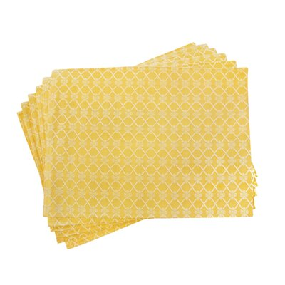 Textiles Plus Inc. Lined Jacquard Checker Placemat