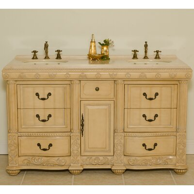 "Global Treasures Oxford 60"" Double Sink Vanity"
