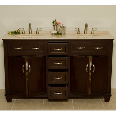 "Global Treasures Bolton 60"" Double Bathroom Vanity Set"