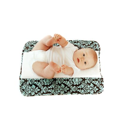 Ah Goo Baby The Plush Pad Memory Foam Changing Pad in Vintage In Blue