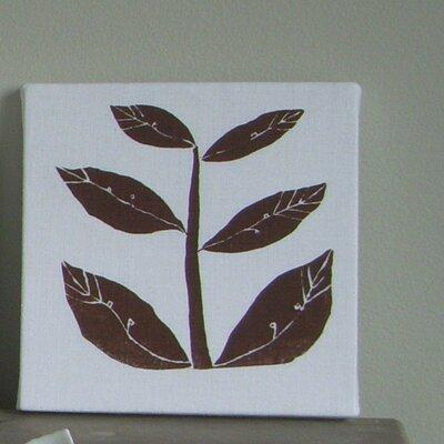 Leaflet Textile Painting Print on Canvas