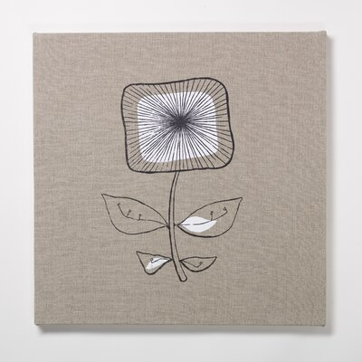 Square Flower Textile Painting Print on Canvas