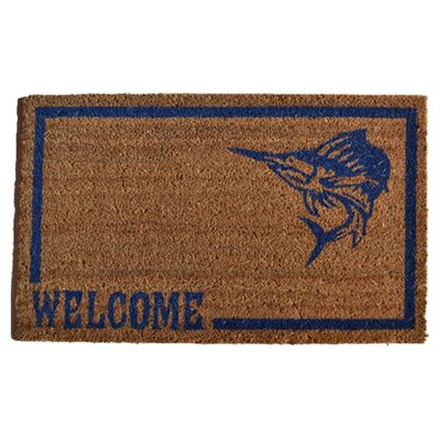 Imports Decor Swordfish Doormat