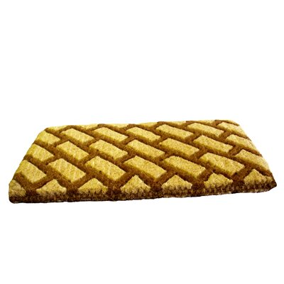 Diagonal Bricks Doormat