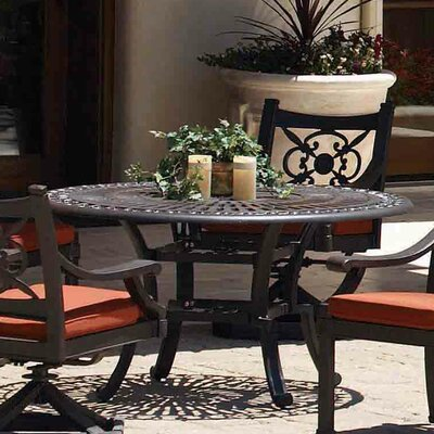 Sunset West Del Mar Round Aluminum Dining Table