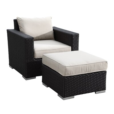 Sunset West Solana Club Chair and Ottoman with Cushions
