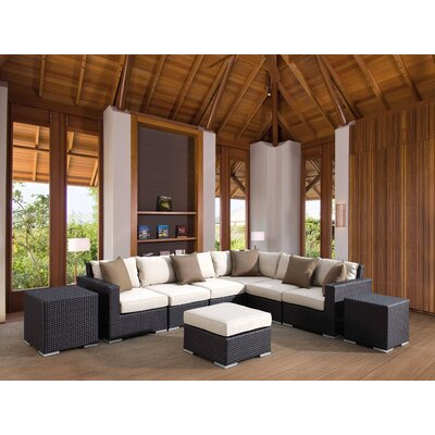 Sunset West Solana Sectional with Cushions