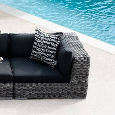 Sunset West Emerald Corner Club Chair with Cushions