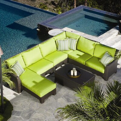 Sunset West Malibu Sectional Deep Seating Group with Cushions