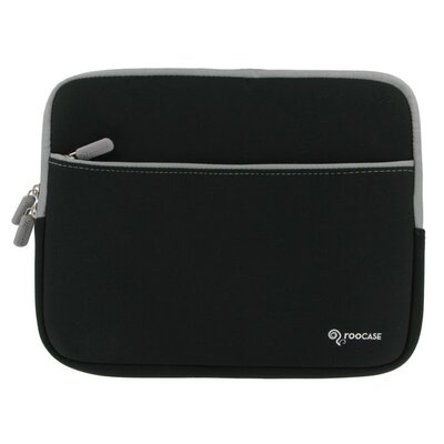 "rooCASE Dual Pocket Neoprene Sleeve Invisible Zipper Case for 12"" Netbook"